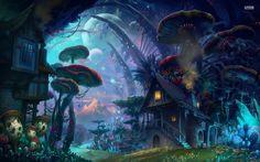 General 1680x1050 artwork mushrooms