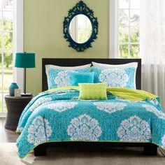 Intelligent Design Liliana Damask Quilt Set  found at @JCPenney