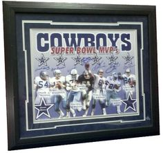 Dallas Cowboys, Super Bowl MVP's, Chuck Howley, Roger Staubach, Harvey Martin, Randy White, Troy Aikman, Emmitt Smith, Larry Brown Signed, Limited Edition 171/250, 16x20, Photograph, Charity Sports Distributor Certified *** Continue to the product at the image link.