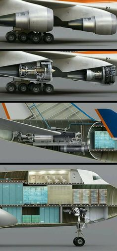 Boeing 747 Cross-Section View.
