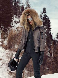 Ski Fashion, Fashion Outfits, Fashion Women, Sport Outfits, Winter Outfits, Autumn Winter Fashion, Winter Style, Fur Jacket, Skiing