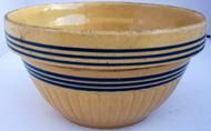 Yellow ware mixing bowl New England , circa 1900- 1930