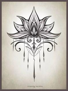 Simple Lotus Design Favorites Tattoos Henna Tattoo Designs