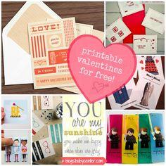 Free printable valentines on BabyCenter