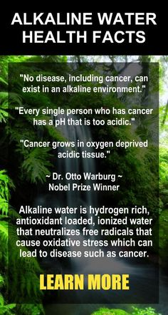 No Disease, Including Cancer, Can Exist In An Alkaline Environment. ~ Dr. Otto Warburg, Nobel Prize Winner. Learn more about alkaline rich Kangen Water, the hydrogen rich, antioxidant loaded, ionized water that neutralizes free radicals that cause oxidative stress which can lead to disease such as cancer. Change your water, change your life.