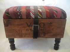 Hey, I found this really awesome Etsy listing at https://www.etsy.com/listing/216660705/power-tie-wine-crate-ottoman