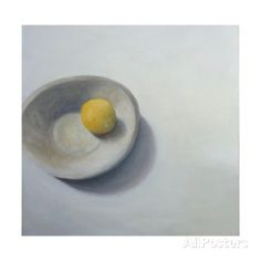 Lemon on a Stone Dish Giclee Print by Sara Studd at AllPosters.com