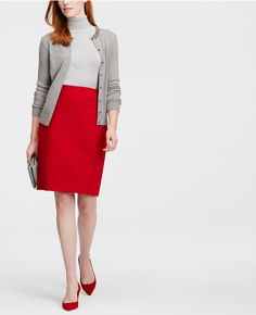 Primary Image of Crepe Pencil Skirt
