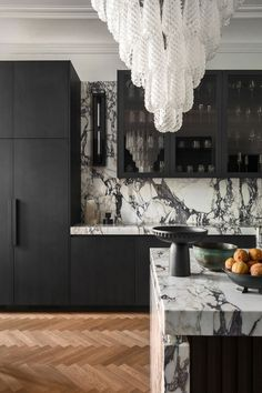 Home Design, Interior Design Studio, Interior Design Kitchen, Marble Interior, Contemporary Interior, Modern Kitchen Renovation, Country Look, Home Luxury, Grand Kitchen