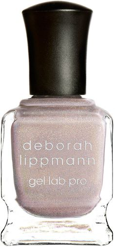 Deborah Lippmann Dirty Little Secret Gel Lab Pro Nail Polish, 15 mL  --  Sheer Holographic Greige Shimmer  The Healthy Alternative to Gel Polish