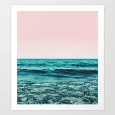 Art Print featuring Ocean Love #society6 #oceanprints #buyar… by 83 Oranges™