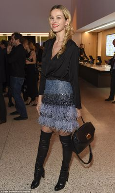 Party hopper: Petra Nemcova ensured she was the belle of the ball when she attended not one but two events in London on Tuesday night, first stopping off at the launch of the new Design Museum