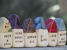 Message houses Miniature houses Little rustic от CeramicsByOrly