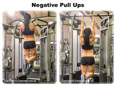 Negative Pull Ups is a great way to build your lats, rear shoulders and upper back muscles.  This is also an effective way to learn the pull up if you can't do one.  The negative or eccentric part of any exercise places the muscle in an elongated position.  Watch a demo... https://www.exercises.com.au/negative-pull-ups/
