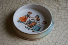 Antique Childs Dish Ring Around the Rosy Marked Germany