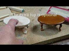 Miniature Dollhouse Oval Coffee Table - YouTube