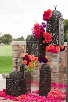 i like these lanterns with some floral embellisments.