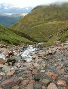 Halfway waterfall on beautiful Ben Nevis. See that path, that's the way up / back. #visitscotland