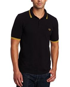 Polo Fred Perry negro y amarillo.