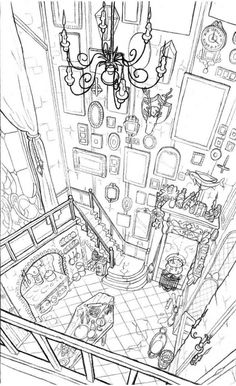 Morticia Addams & # Kitchen by Sixtine Dano. - Healthy skin care - Morticia Addams & # Kitchen by Sixtine Dano. Illustration Inspiration, Illustration Art, Drawing Sketches, Art Drawings, Drawing Art, Landscape Drawings, Sketching, Art Tutorials, Drawing Tutorials