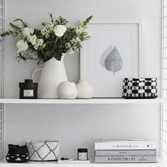 Tessuti is one of my favourite homeware stores to visit in Auckland. With a natural talent for curating beautiful products, owner Ali McInt. Nordic Home, Scandinavian Home, Decoration Gris, Interior Styling, Interior Design, White Shelves, Minimal Decor, Floating Nightstand, Furniture