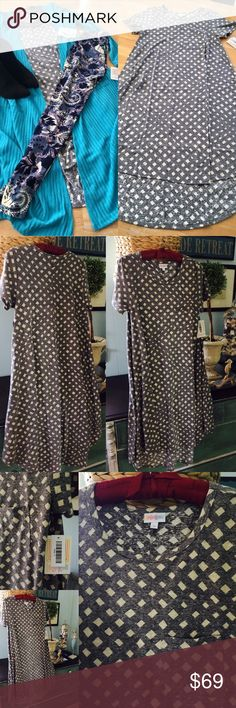 NWT-LuLaRoe Carly-small-gray w/ white diamonds LuLaRoe Gray with white diamond pattern dress- size small - new with tags- never worn- smoke free but not pet free home- Listings is for dress ONLY- Sarah also for sale in another listing-I am NOT a consultant- I paid over retail for this- PRICE is FIRM please if you don't like the price you can just move along, there's no reason to leave rude comments. normally sell for $55 and with Poshmark fees I'm only making what I paid for it! Thank you…