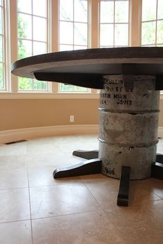 @Tauna Lane-Wigfield Your hubby should make something like this out of that keg in y'alls garage