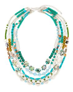 Beaded Multi Row Necklace-Gabrielle K New York-Featured Brands-Watches &…