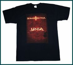 FL&AEVVE SONATA ARCTICA Unia Cover OFFICIAL Large T SHIRT BRAND NEW frases para camisetas