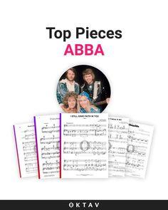 Piano Sheet Music of Abba Songs. #piano #sheet #music #abba