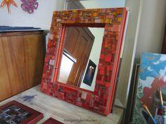 Orange Ombre Mirror by Margaret Almon