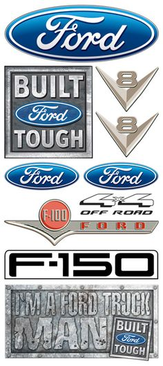 Creative Imaginations - Ford Enthusiast Collection - Clear Stickers - Ford Logo  $2.99