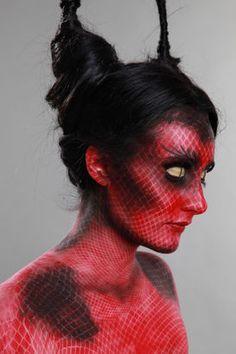 Devilish halloween makeup
