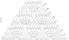 15 Best Photos of Stitch Diagram Crochet Triangles Crochet Triangle Motif Pattern Crochet Crochet Diagram, Crochet Chart, Crochet Motif, Diy Crochet, Crochet Stitches, Crochet Hooks, Crochet Patterns, Crochet Shawls And Wraps, Crochet Scarves