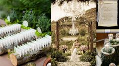 Natural Scroll Invitation Ideas, nature inspired wedding invitations.