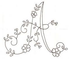 Risultati immagini per bordar letras a mano