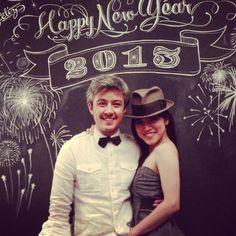 Chalk design by Carolina Ro - Art - Engagement - Celebration - New Year - Photo Booth - Photography - Fun - gorgeous - Holidays & Events
