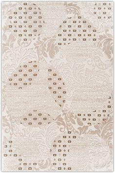 Flora Troya 0730A KREM -  Modern Halı Satın Al