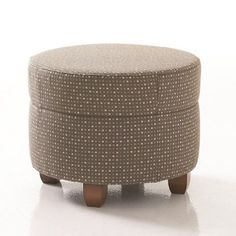 Studio Q Furniture Crosby Round Ottoman in Grade 3 Vinyl Upholstery: Vinyl Bordeaux