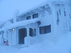 nem az Antarktisz, csak egy szállás a Syöte NP-ban