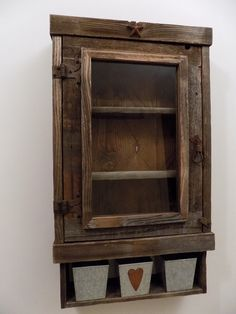 Lovely Reclaimed Wood Medicine Cabinet