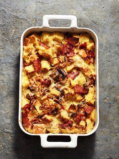 onion bacon and mushroom strata more recipes breakfast breakfast onion ...
