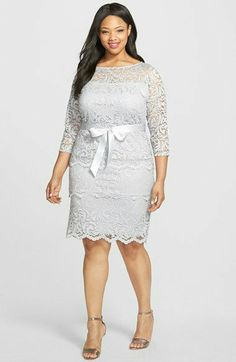 Marina Tiered Stretch Lace Sheath Dress (Plus Size) Plus Size Cocktail Dresses, Plus Size Party Dresses, Dress Plus Size, Plus Size Fashionista, Looks Plus Size, Lace Outfit, Lace Sheath Dress, Plus Size Fashion For Women, Groom Dress