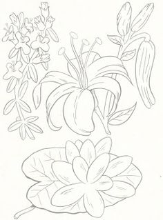 Flores Para Bordar A Mano Literas Blancas De Madera