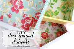 DIY Decoupaged Drawers