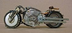 old watch parts to motorcycle art!!!