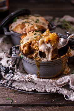 Butternut Squash and Beefy Mushroom Pot Pies w/Flakey Taleggio Crust | half-baked harvest