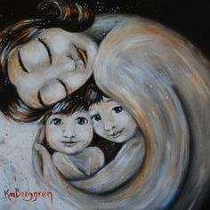 beautiful attachment parenting artwork