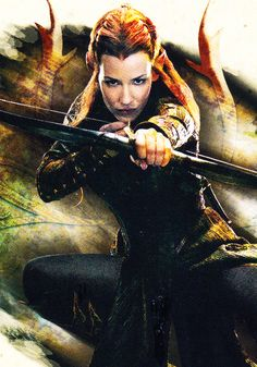 """Tauriel from """"Hobbit: Desolation of Smaug"""", as played by Evangeline Lilly."""