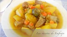 Recetas de Isabel: Patatas guisadas con carne a la jardinera